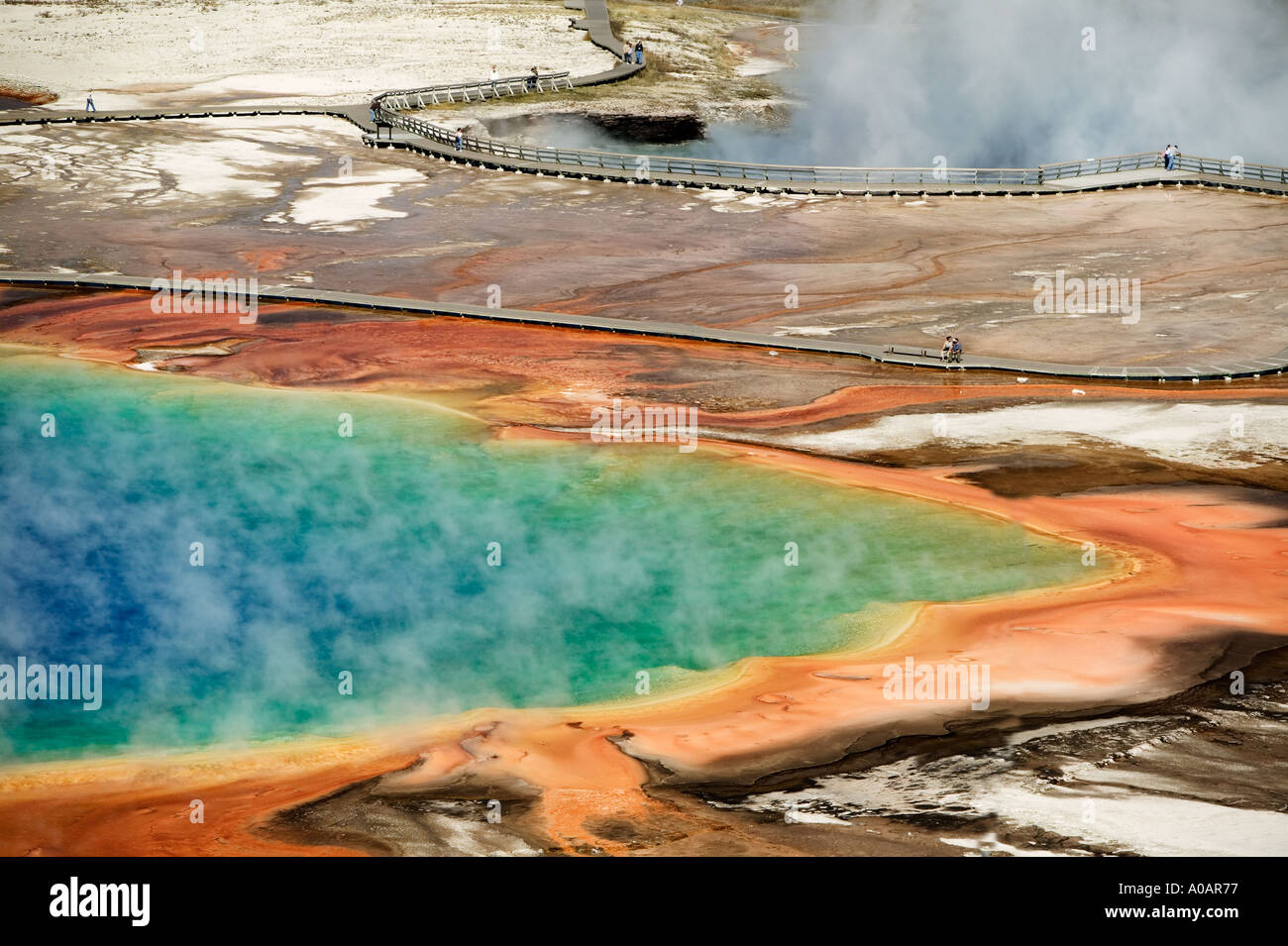 Grand Prismatic Pool Yellowstone National Park Wyoming - Stock Image