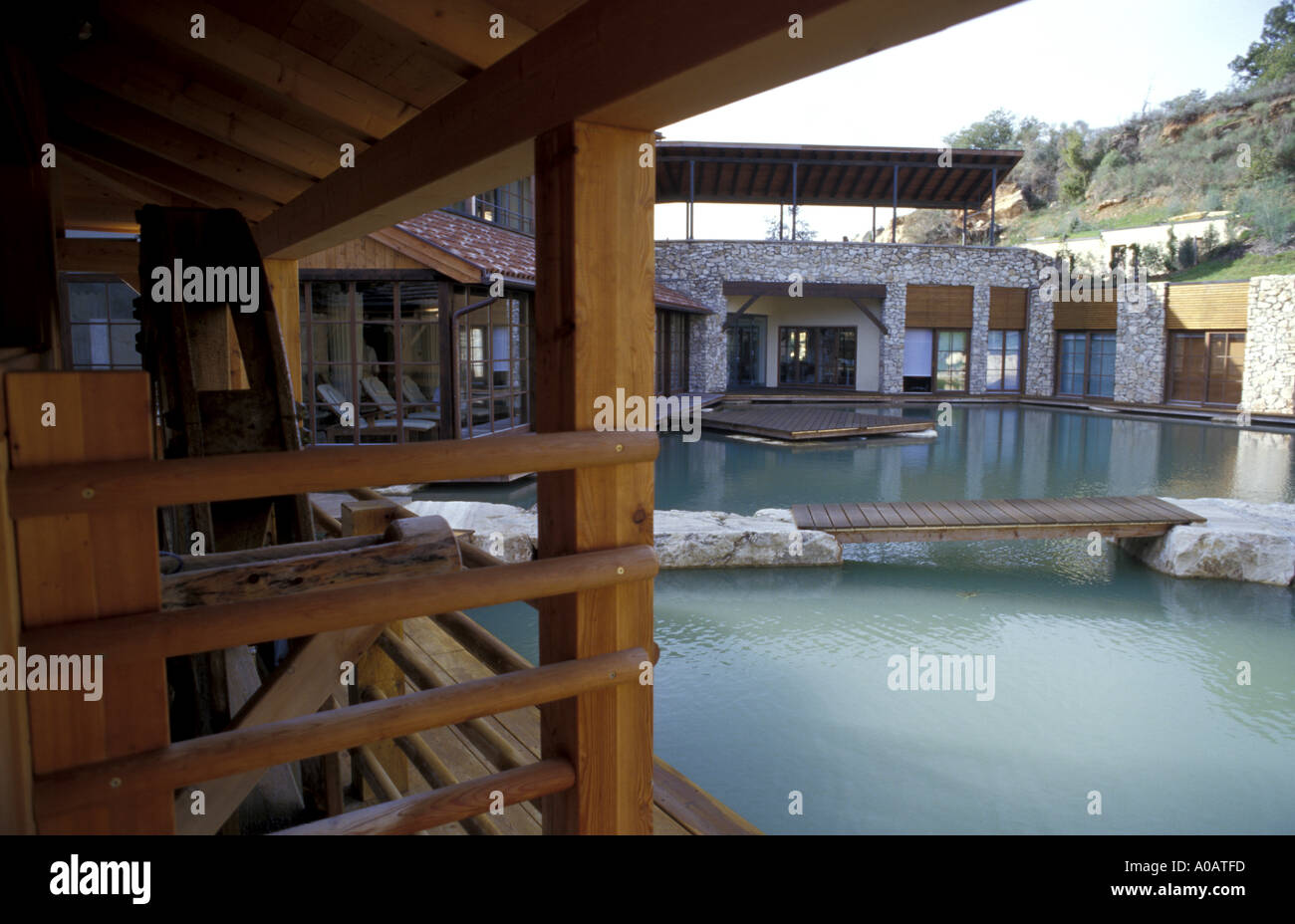 Sauna adler thermae bagno vignoni tuscany italy stock photo: 3244284