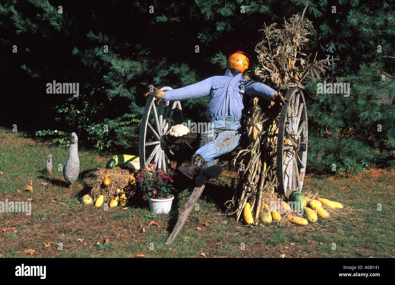 Halloween Thanksgiving Symbols New Hampshire New England Usa Stock