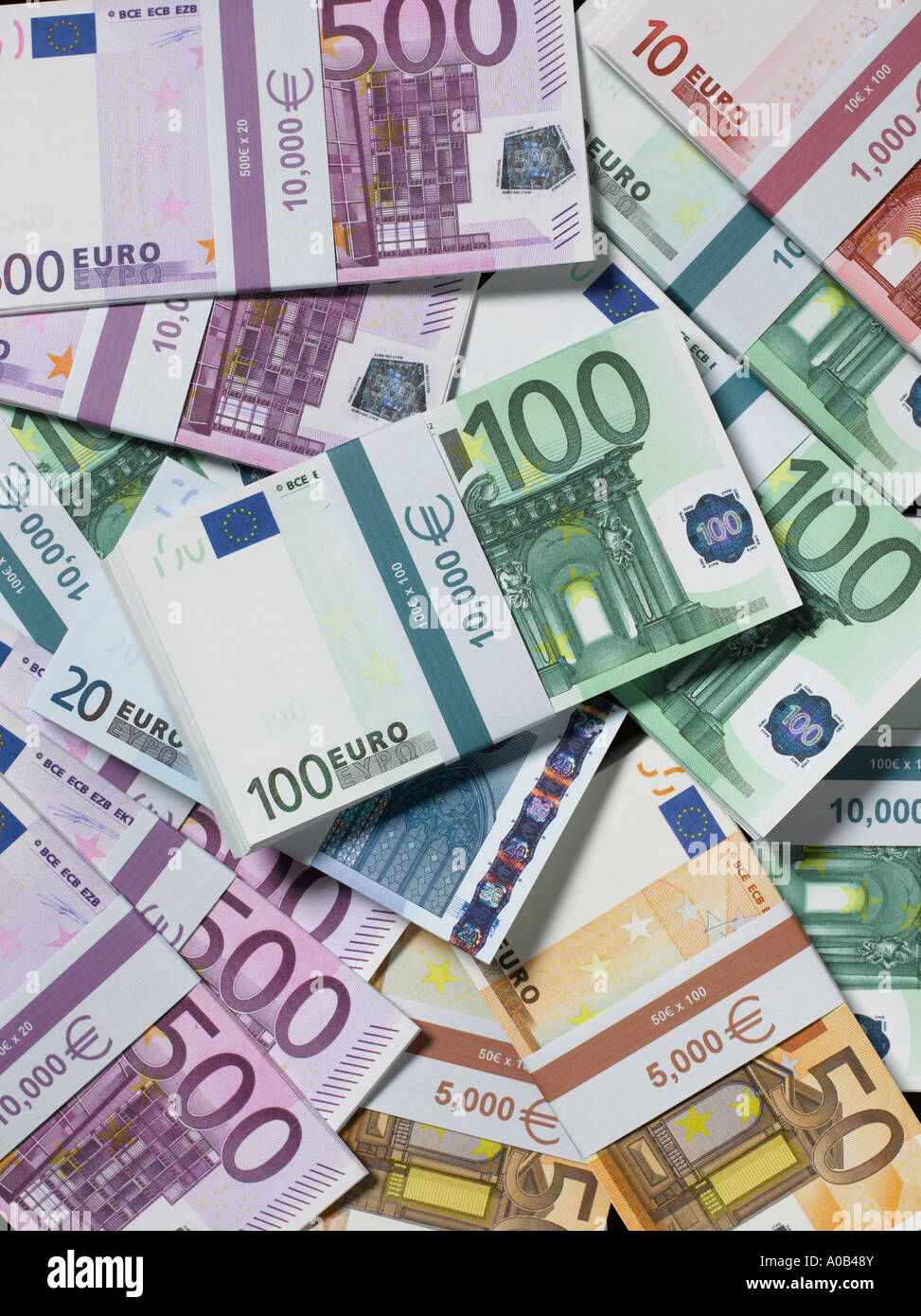 Banded Euros - Stock Image