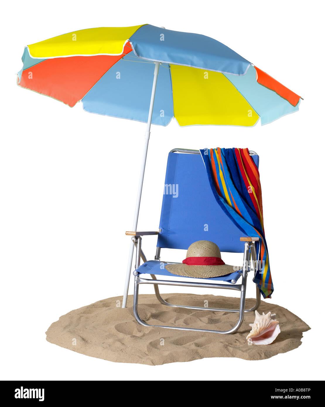 image free chair beach umbrella vector royalty