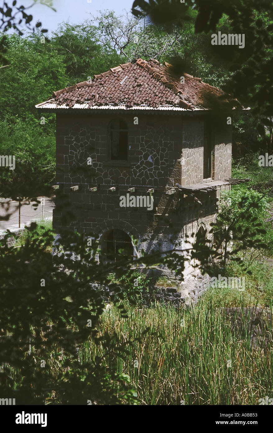 A small hut in a garden. Pune, Maharasthra, India. Stock Photo