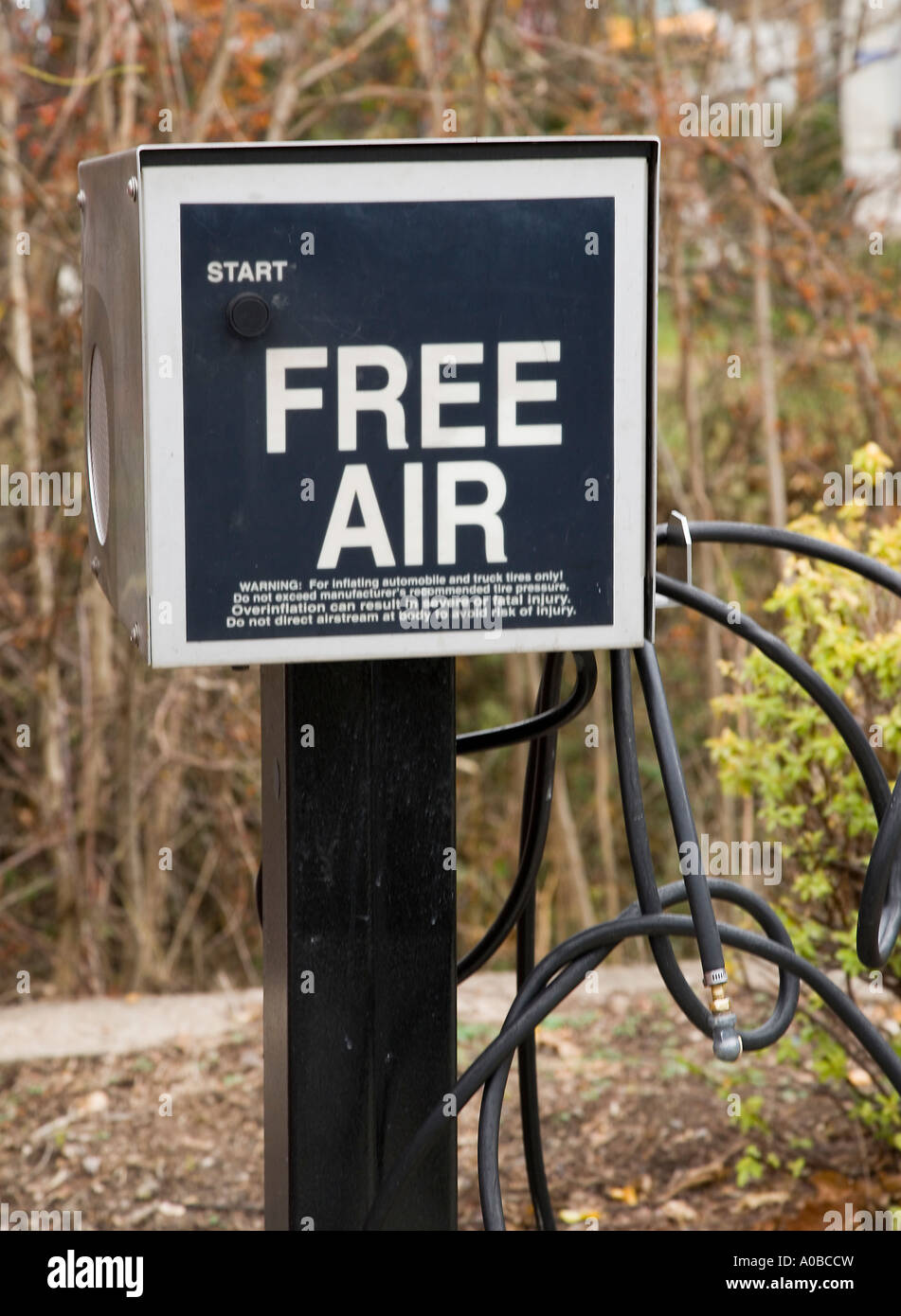 Free Air At A Gas Station Stock Photo 9942168 Alamy