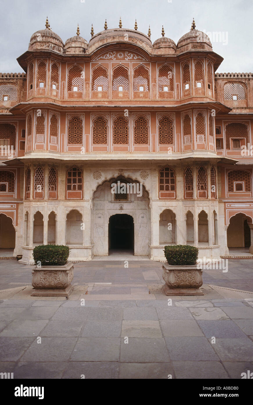 The Entrance To The Main Courtyard Of The City Palace Jaipur Stock