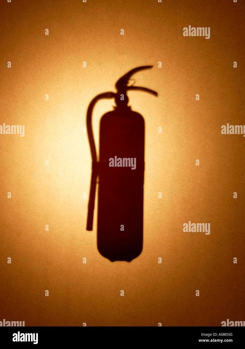 fire extinguisher extinguish - Stock Image