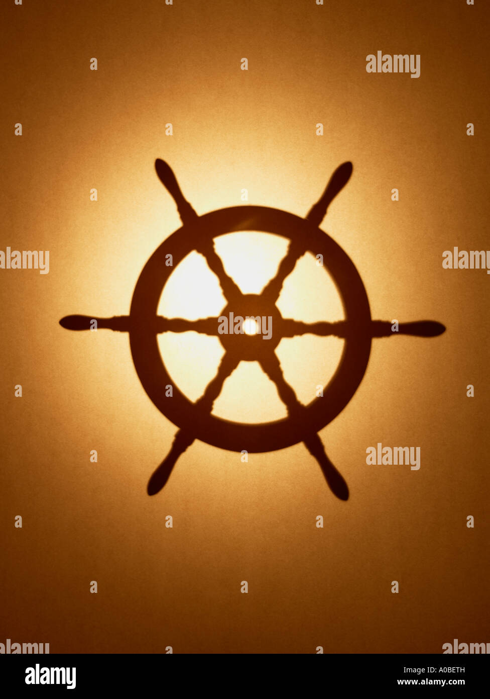 ships steering wheel - Stock Image