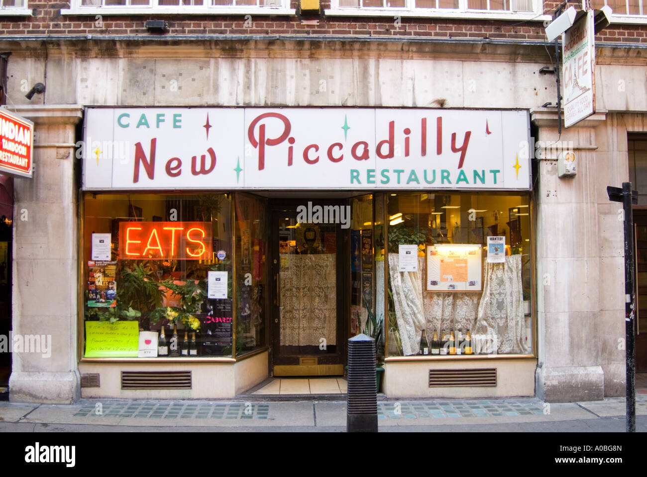 The New Piccadilly Cafe unchanged since the 1950s, London, UK - Stock Image