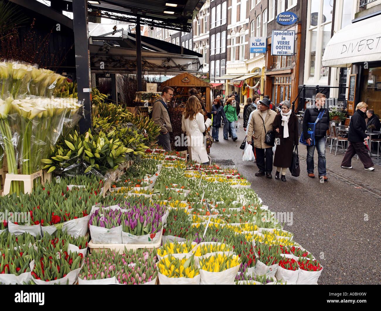 Binh Dong Floating Flower Market.Flower Vendor Floating Flower Market Amsterdam Netherlands Stock