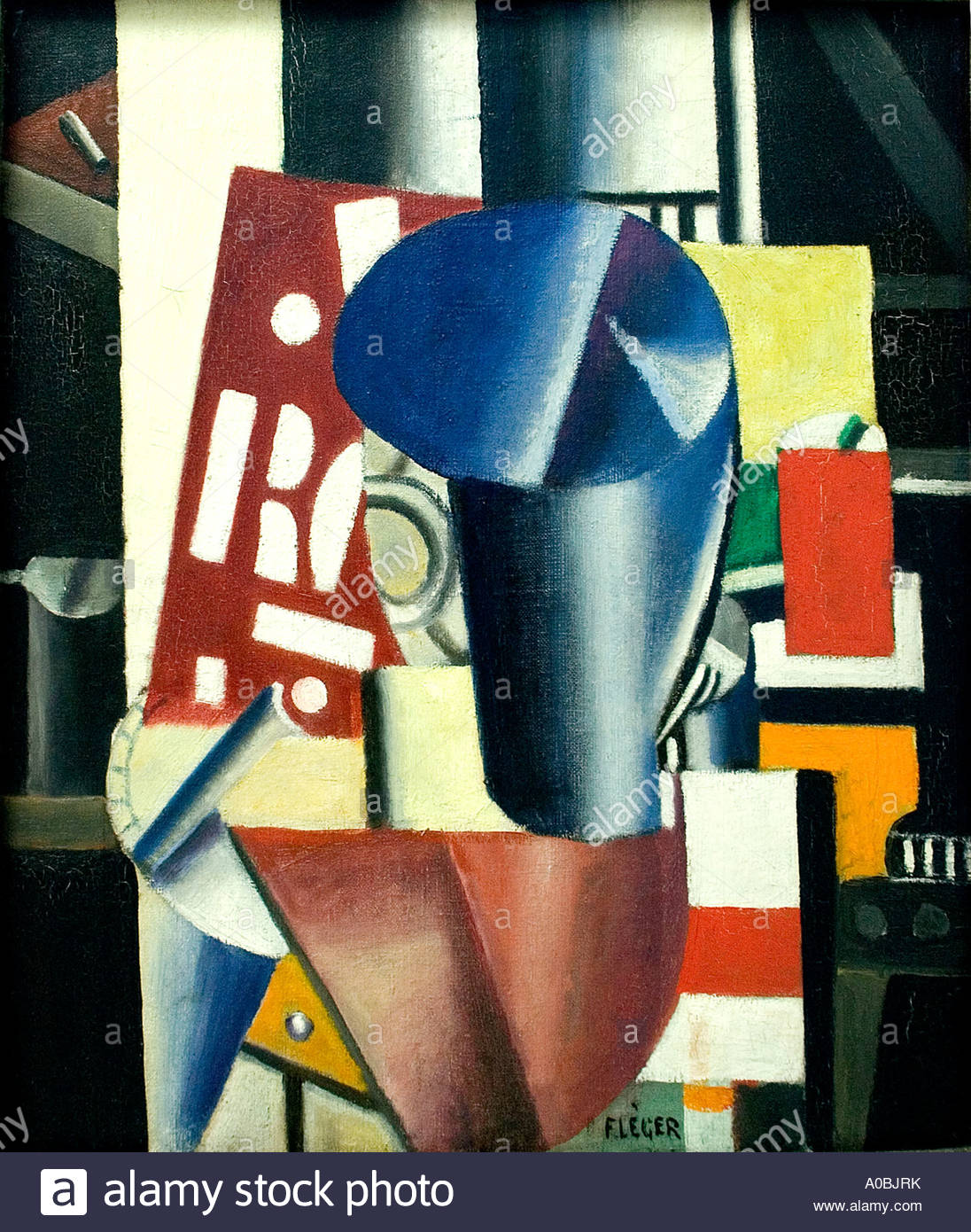 Typography by Fernand Léger French Painter France - Stock Image