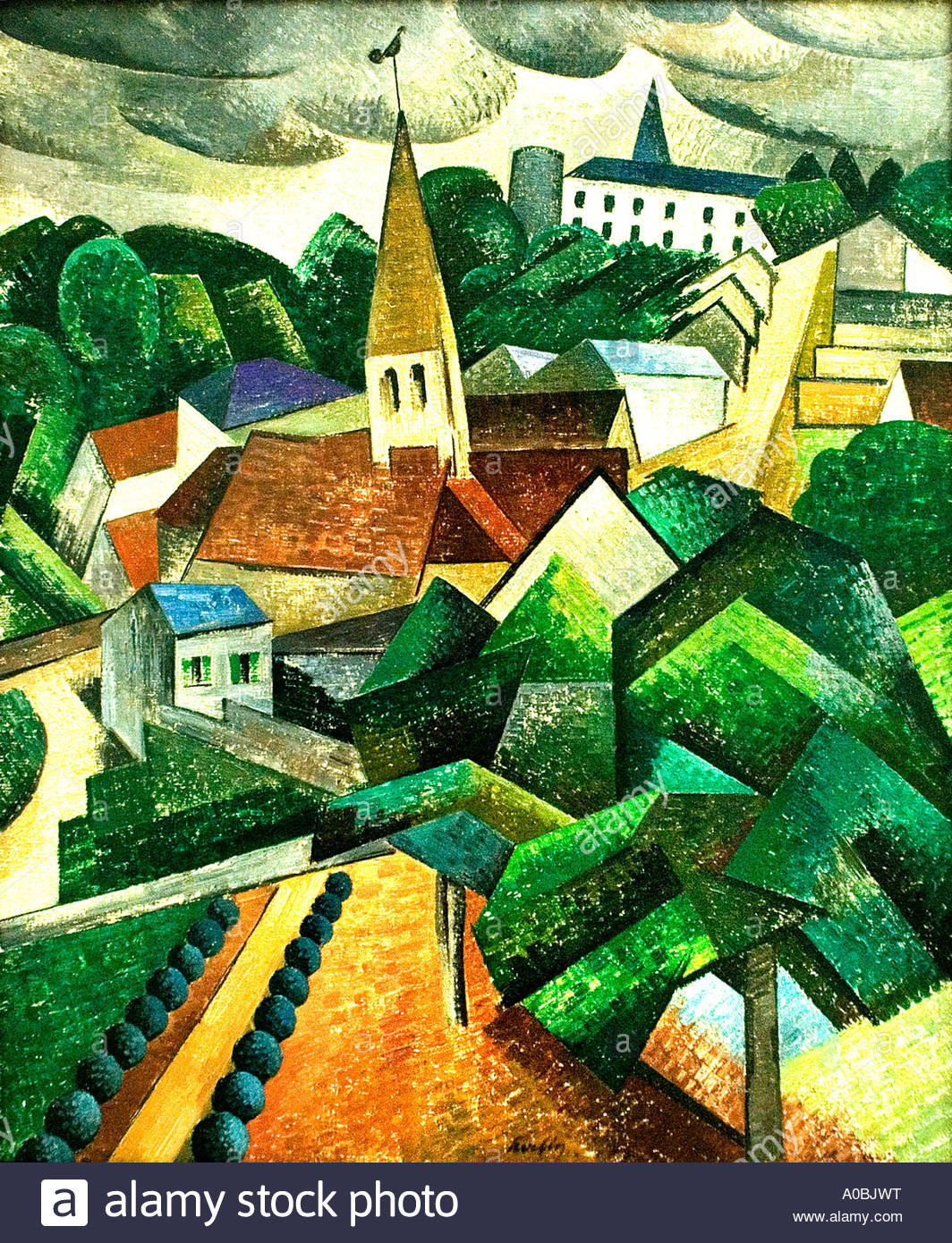 Paysage a Hadricourt 1911   by Auguste Herbin France French Painter - Stock Image