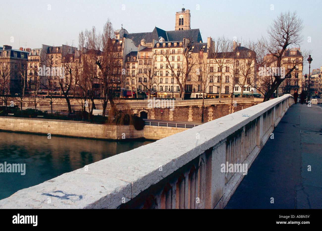 Pont Louis Philippe Saint Gervais Paris Frankreich - Stock Image