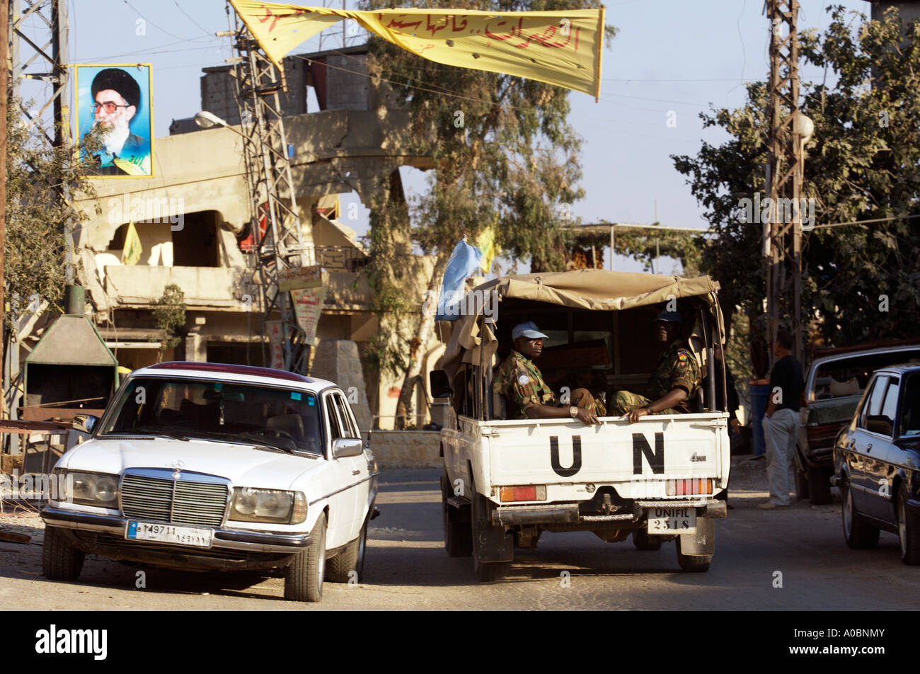 Images from the aftermath of the 2006 conflict that ensued between Israel and Hezbollah in Bint Jbeil, Southern Lebanon. - Stock Image
