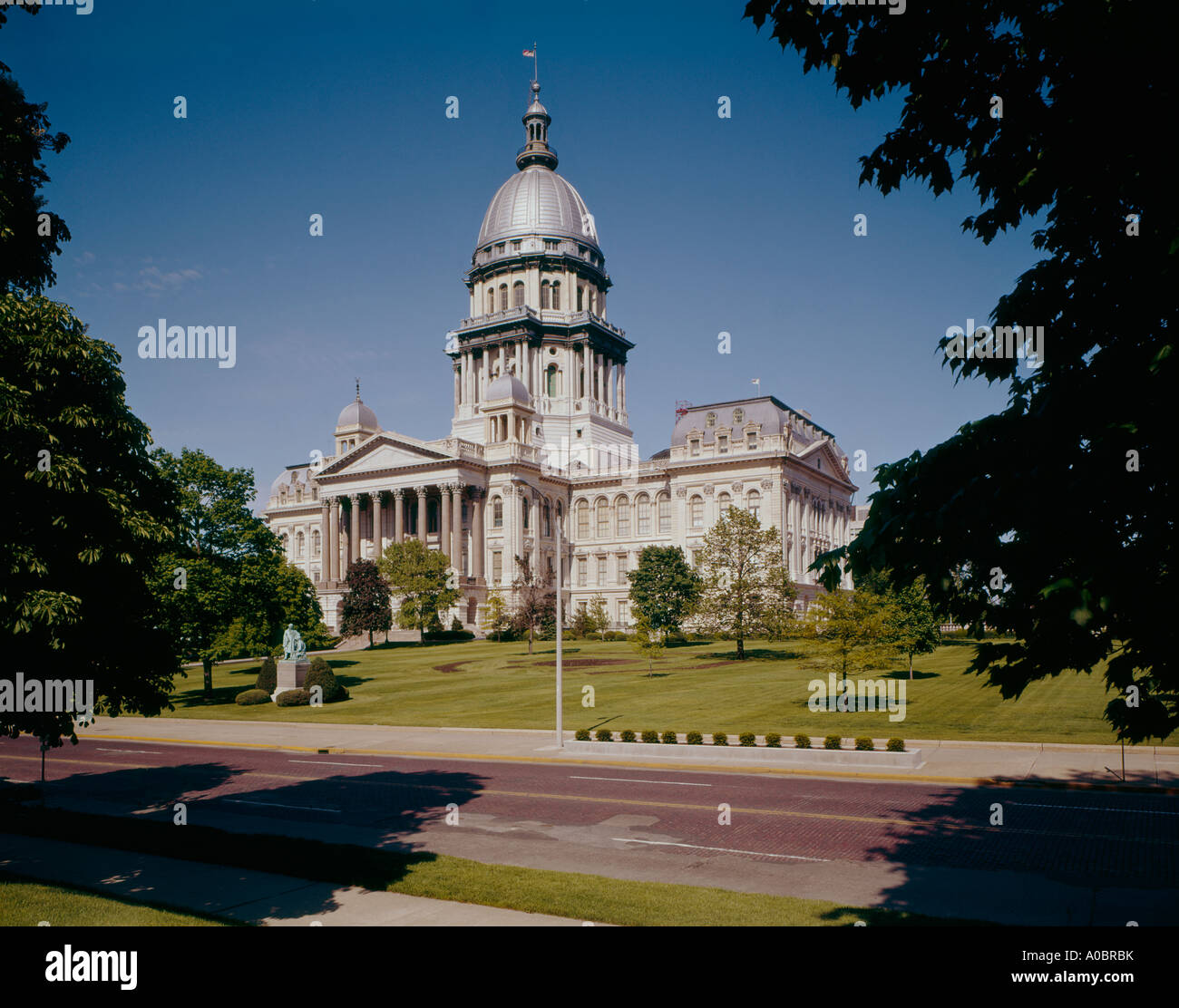 Illinois State Capitol Building at Springfield in Illinois - Stock Image