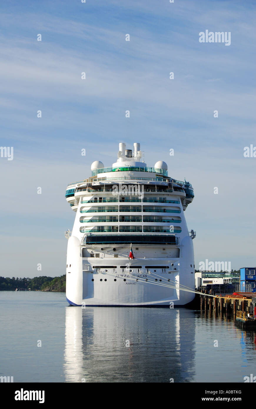 The cruise ship Jewel of the Seas docked in the harbour of Oslo in Norway - Stock Image