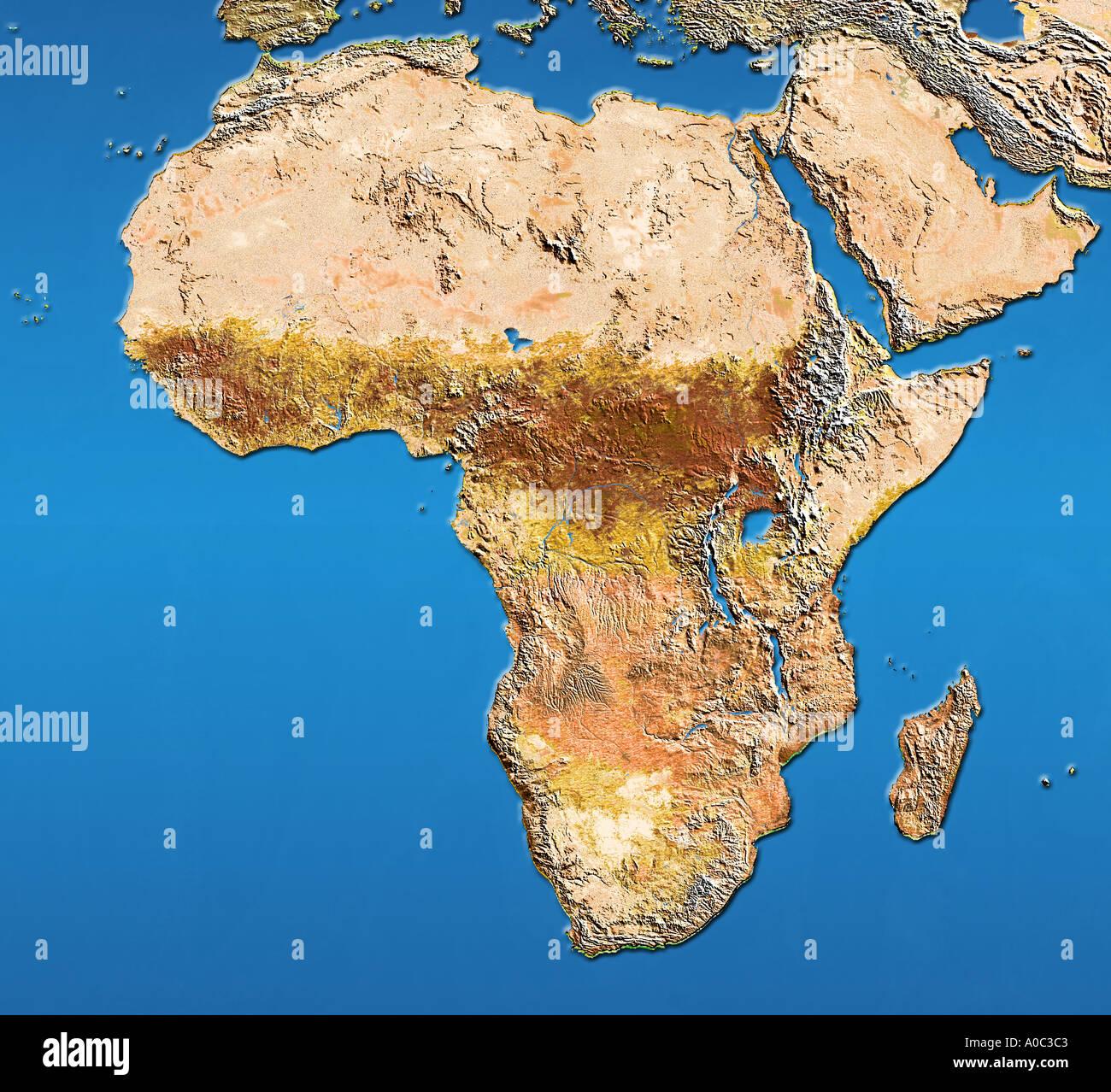 Africa Satellite Map Stock Photos Africa Satellite Map Stock