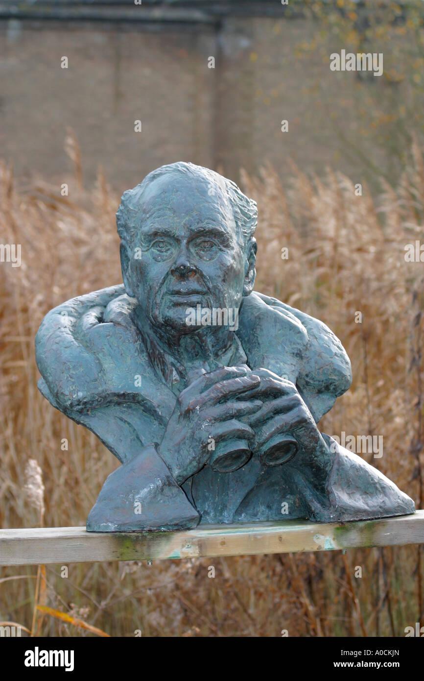 Sculpture of Sir Peter Scott Stock Photo