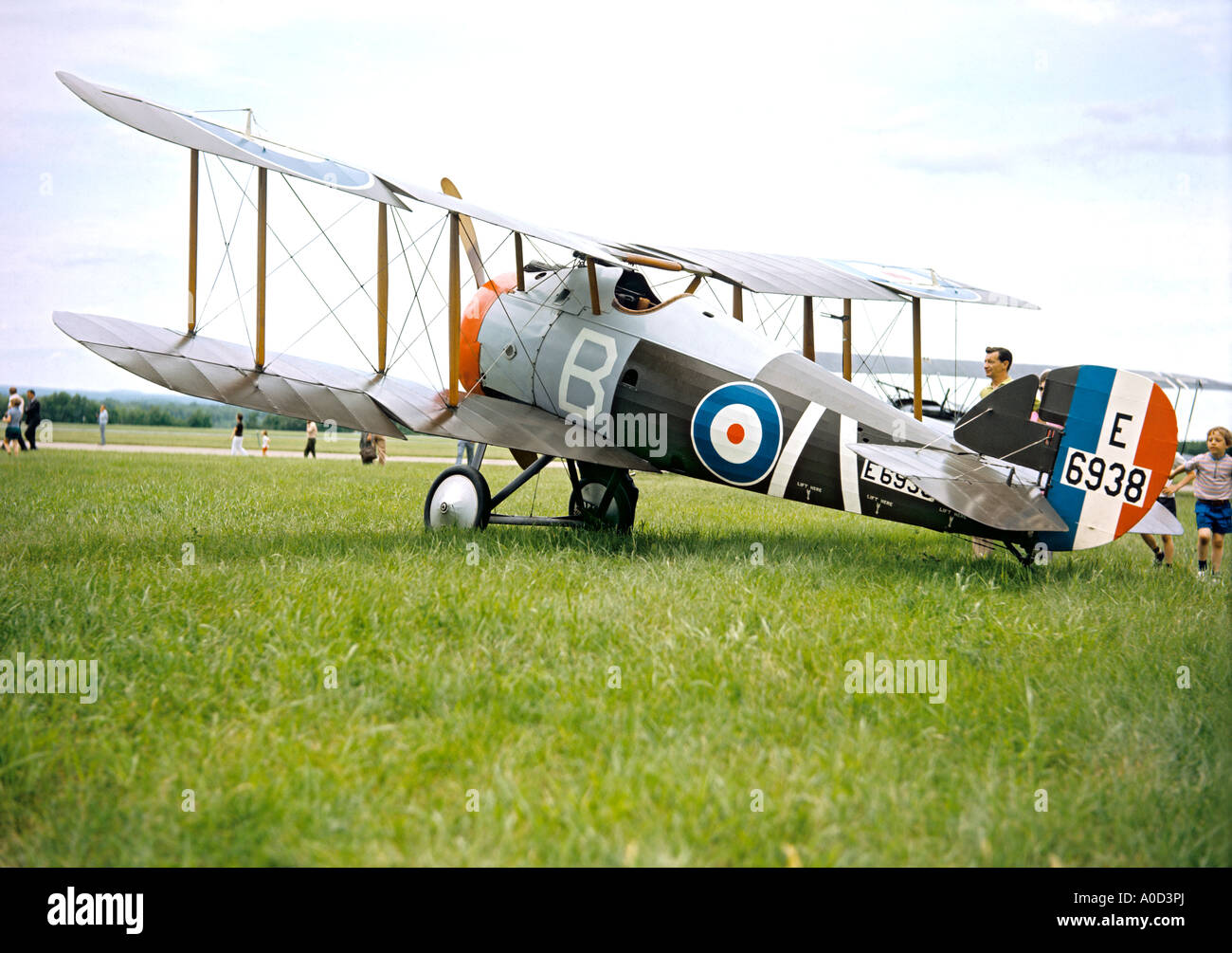 Sopwith Snipe E6938 historic biplane at Rockcliffe Air Museum Ottawa Canada - Stock Image
