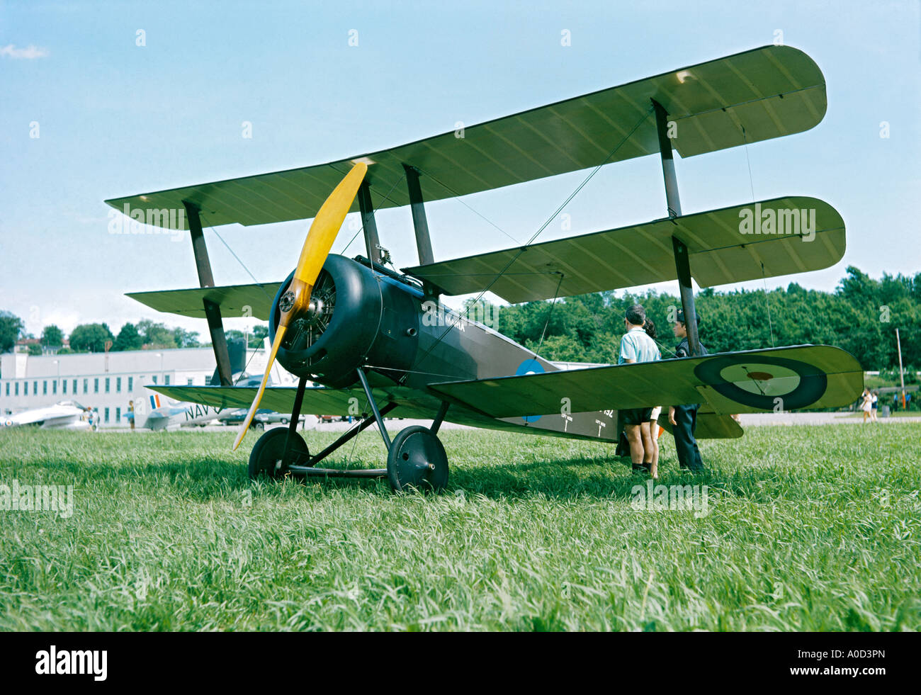 Sopwith Triplane Black Maria at Rockcliffe Air Museum Ottawa Canada - Stock Image