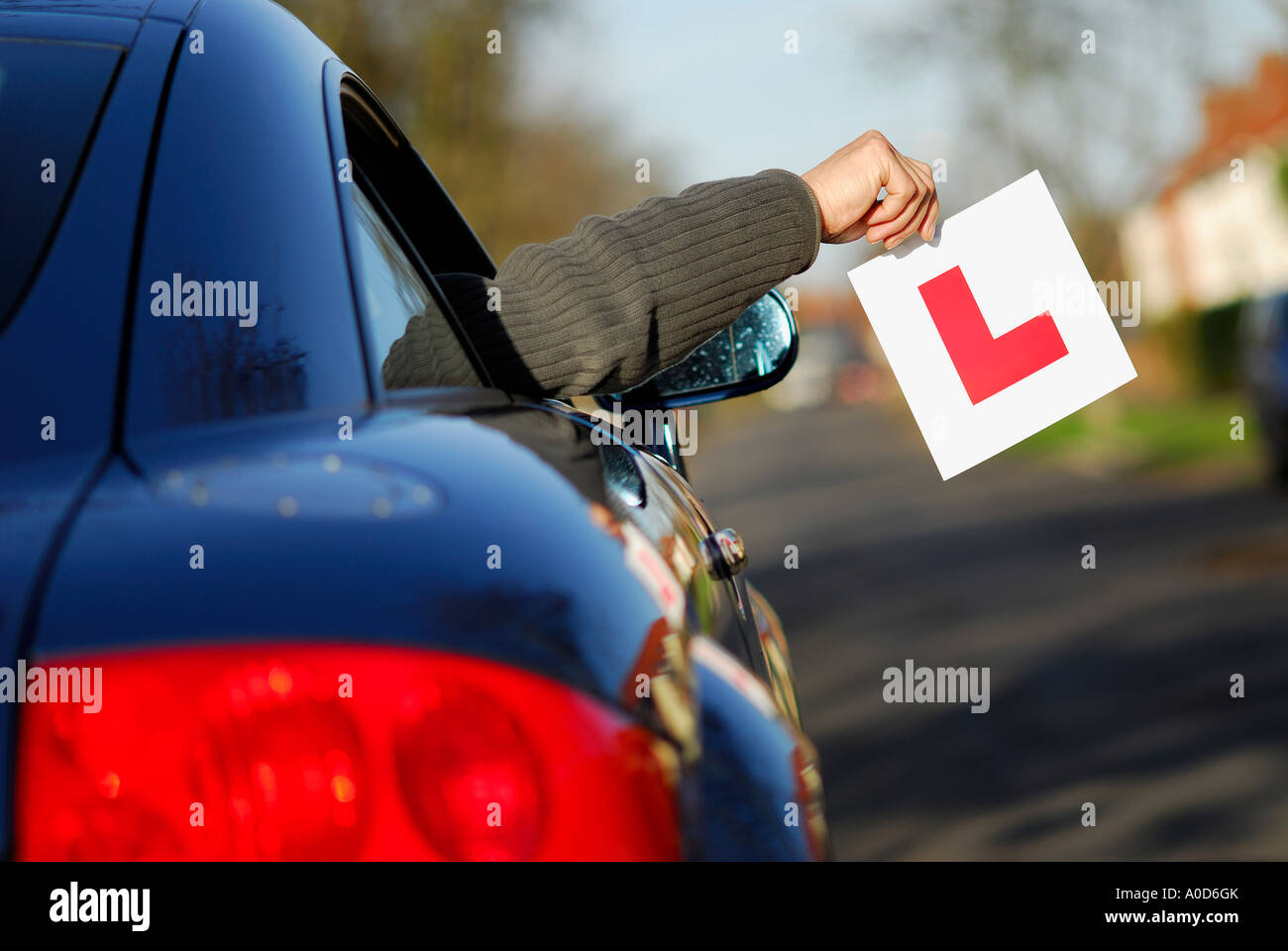 just passed driving test - Stock Image