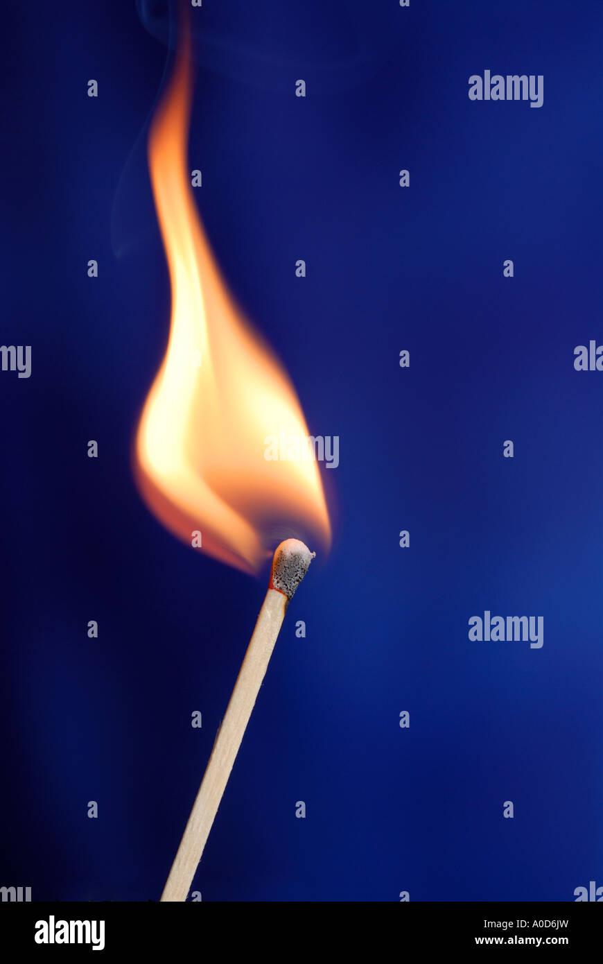 Burning match. - Stock Image