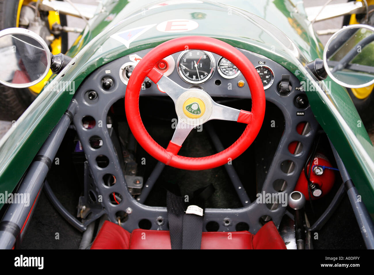 drivers view of the cockpit of a lotus formula 1 racing car from the stock photo 9962030 alamy. Black Bedroom Furniture Sets. Home Design Ideas