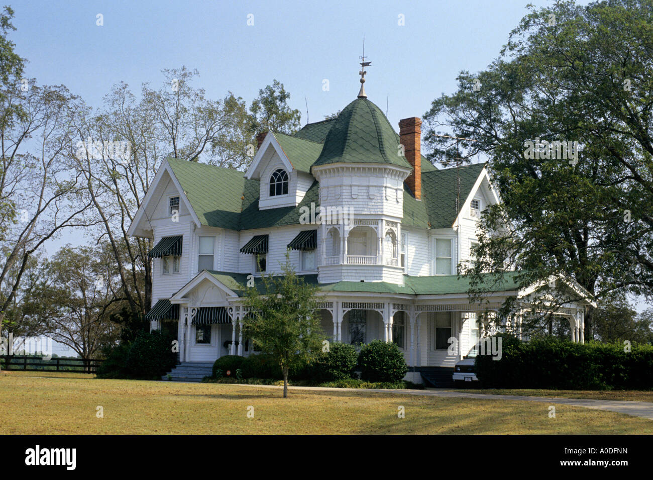 Victorian house in Iowa - Stock Image