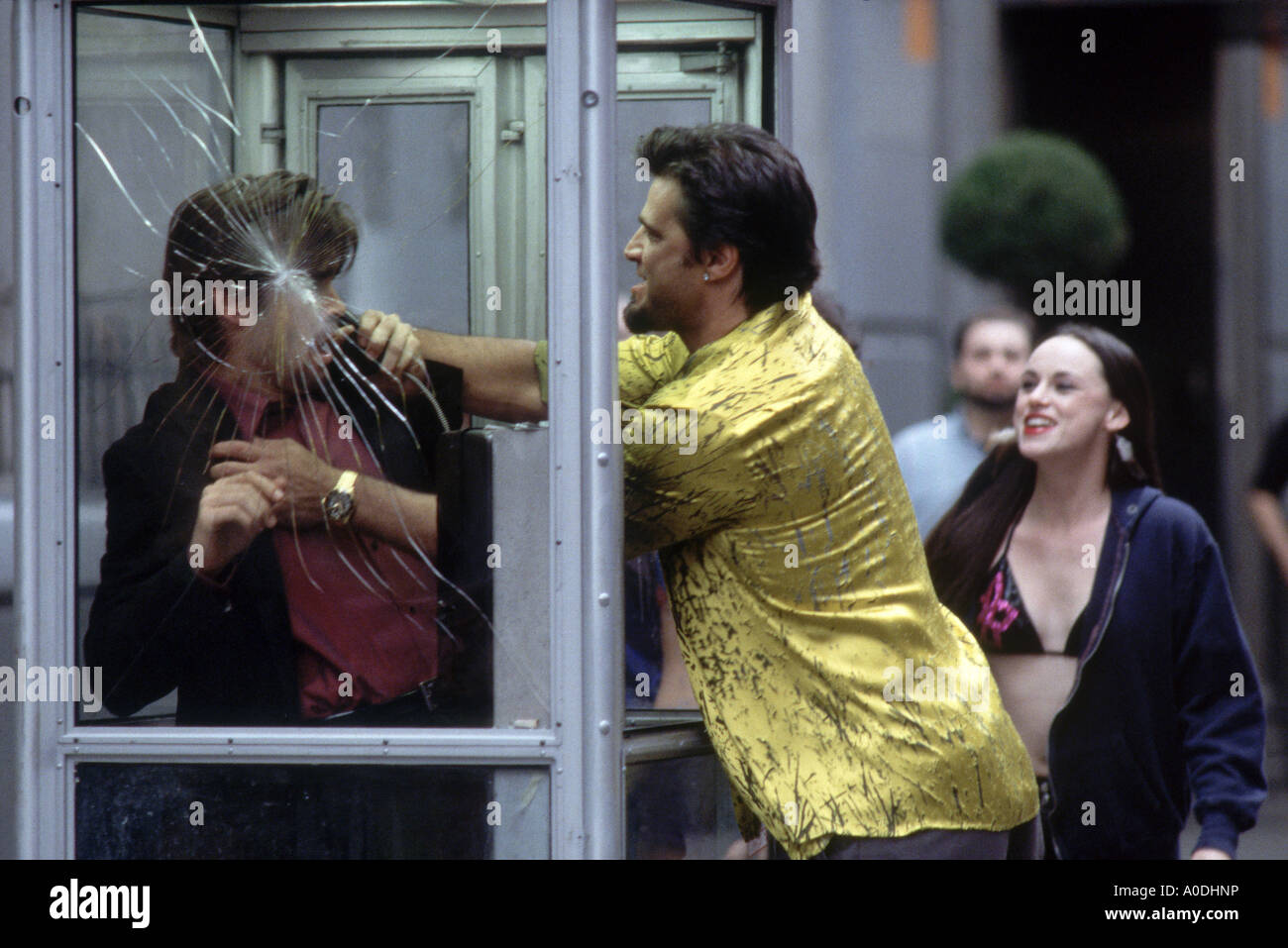 PHONE BOOTH 2002 TCF film with Colin Farrell, John Enos III, Arian Ash - Stock Image