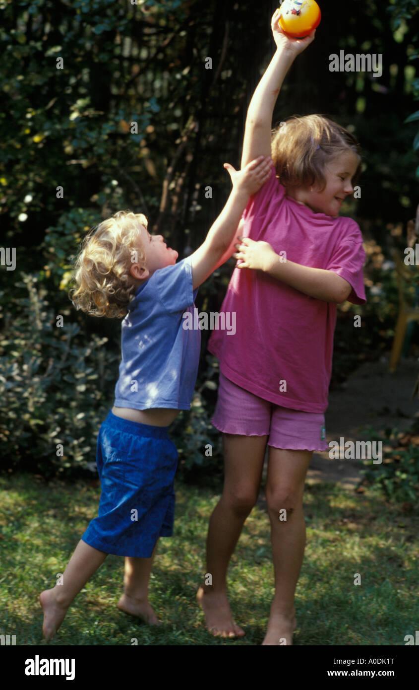 children fighting Stock Photo