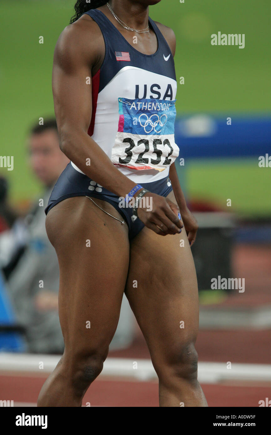 Gail Devers representing the USA fails to qualify for the final of the Women s 100m She finishes 7th in her heat in a time of  - Stock Image
