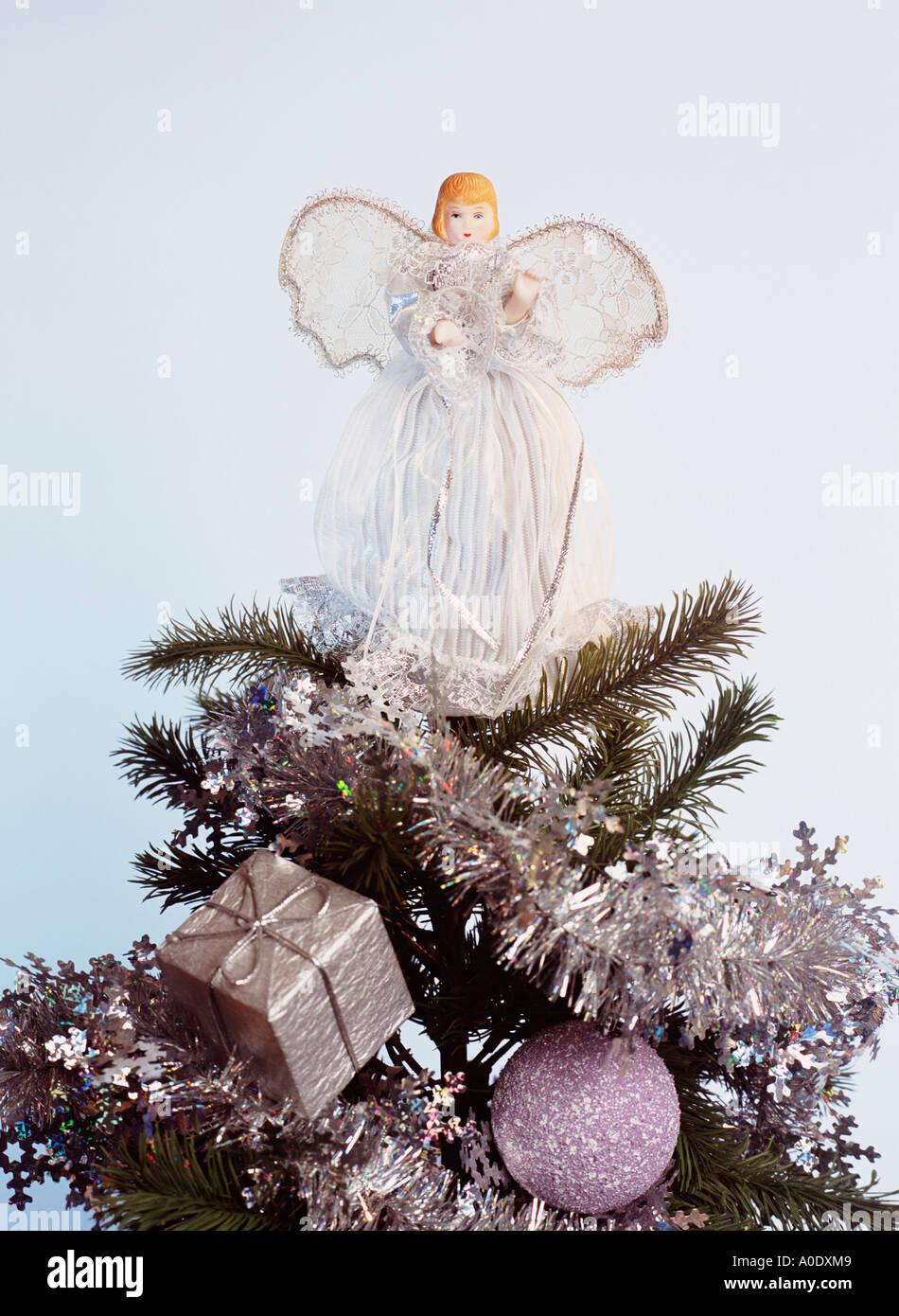 Superb Fairy On Christmas Tree Part - 9: Close Up Of A Fairy On Top Of A Christmas Tree