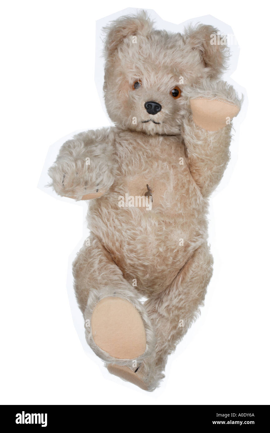 """Schuco """"Tricky"""" Yes/No German Teddy Bear from the 1950's Stock Photo"""