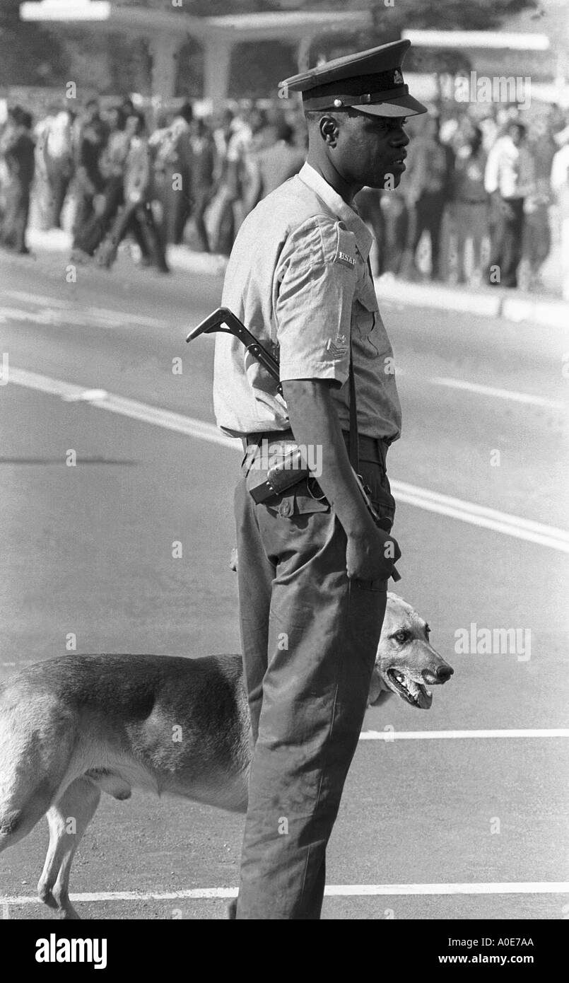 Political unrest in Rhodesia, (Zimbabwe), 1st June 1975 in Salisbury's Highfield Township. - Stock Image