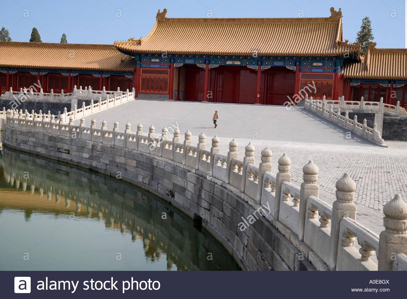 Moat of Forbidden City Beijing 2 - Stock Image