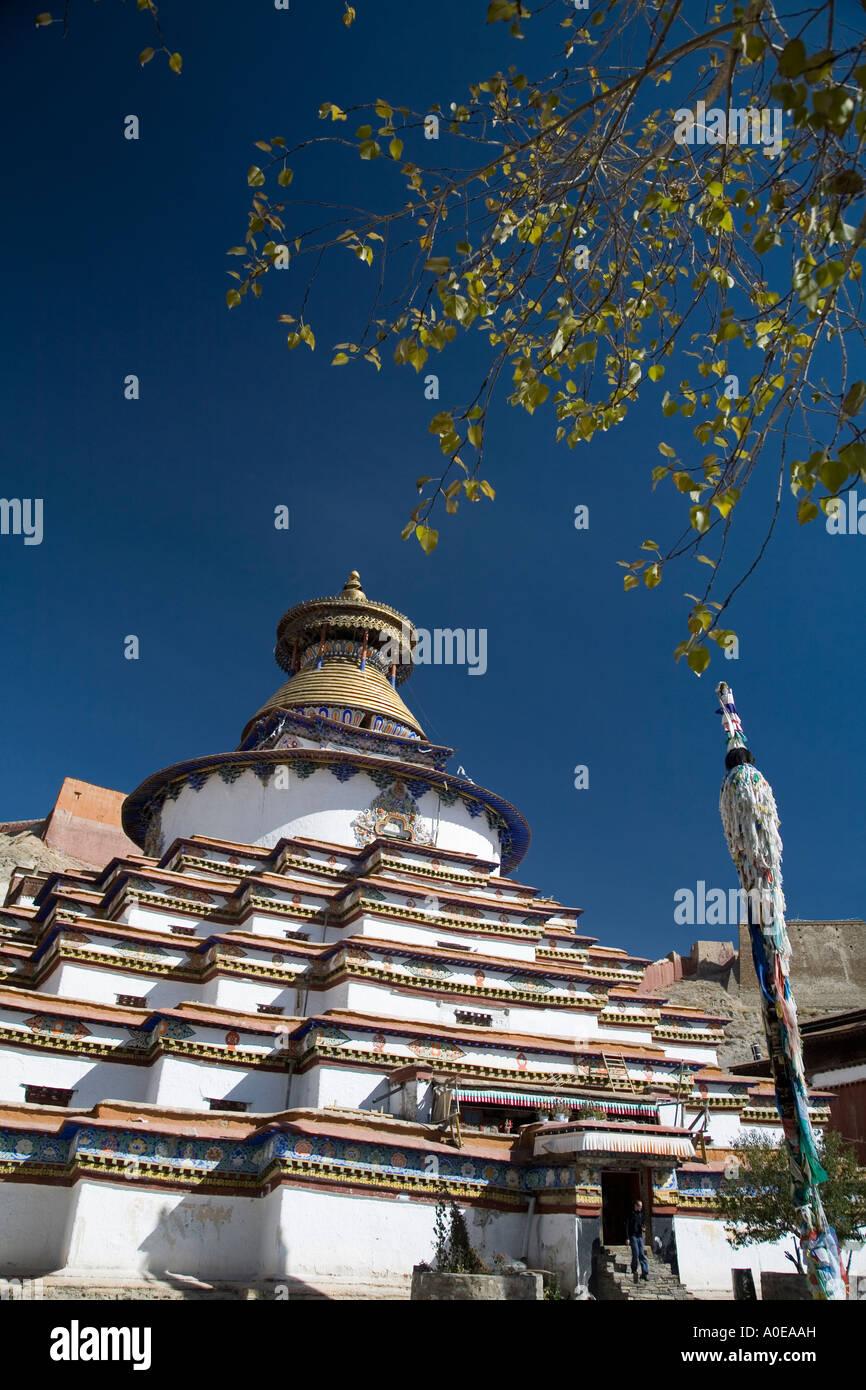 Kumbum Stupa - Gyangtse Tibet 10 - Stock Image