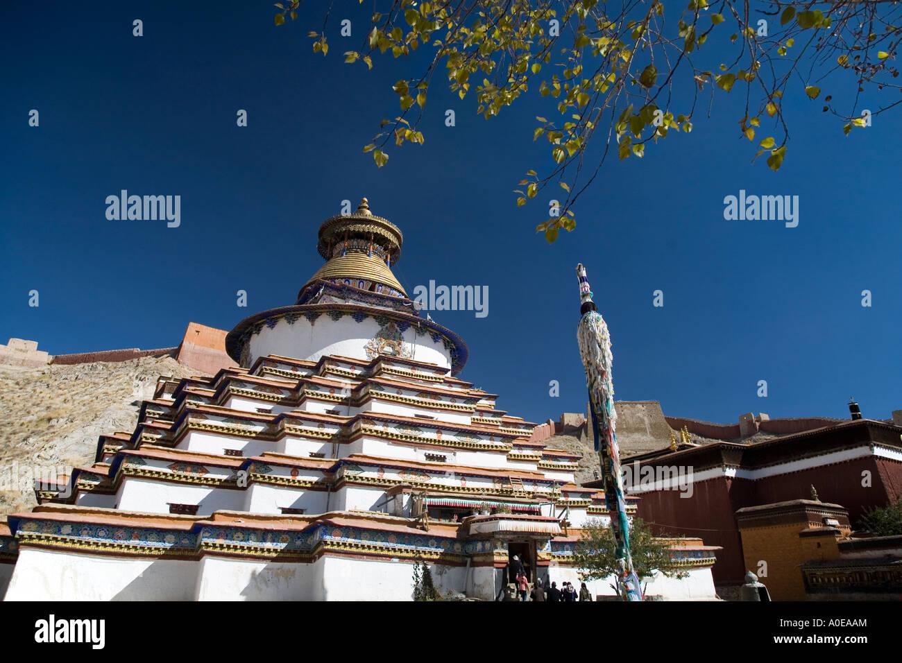 Kumbum Stupa - Gyangtse Tibet 3 - Stock Image