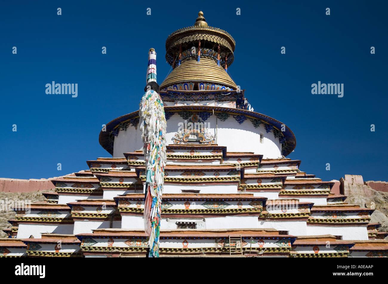 Kumbum Stupa - Gyangtse Tibet 4 - Stock Image