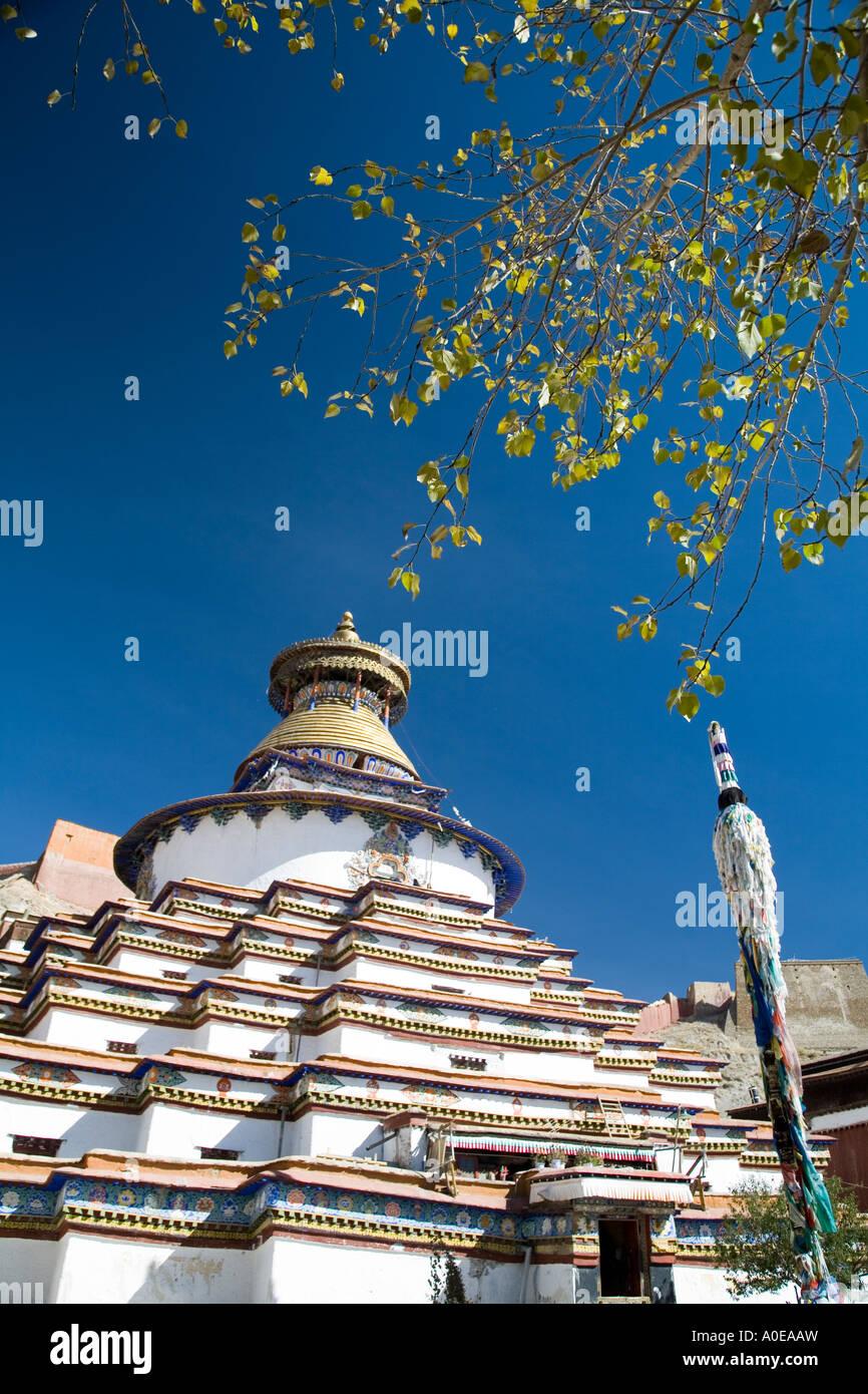 Kumbum Stupa - Gyangtse Tibet 6 - Stock Image
