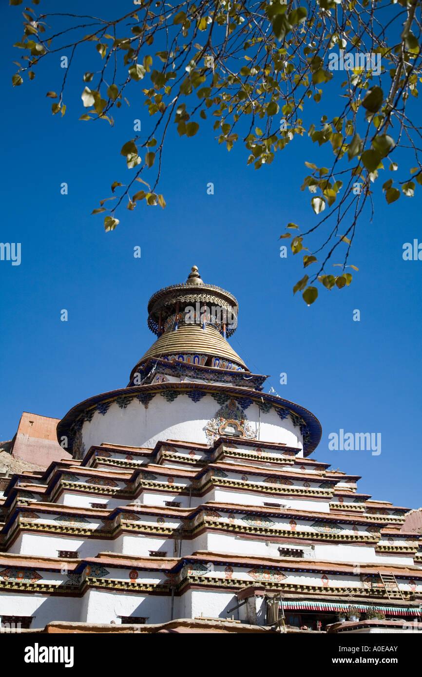 Kumbum Stupa - Gyangtse Tibet 7 - Stock Image