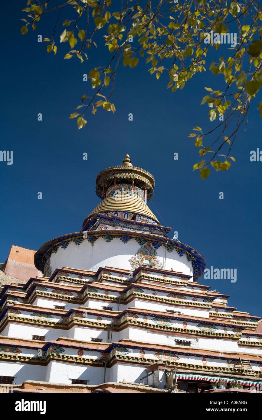 Kumbum Stupa - Gyangtse Tibet 8 - Stock Image
