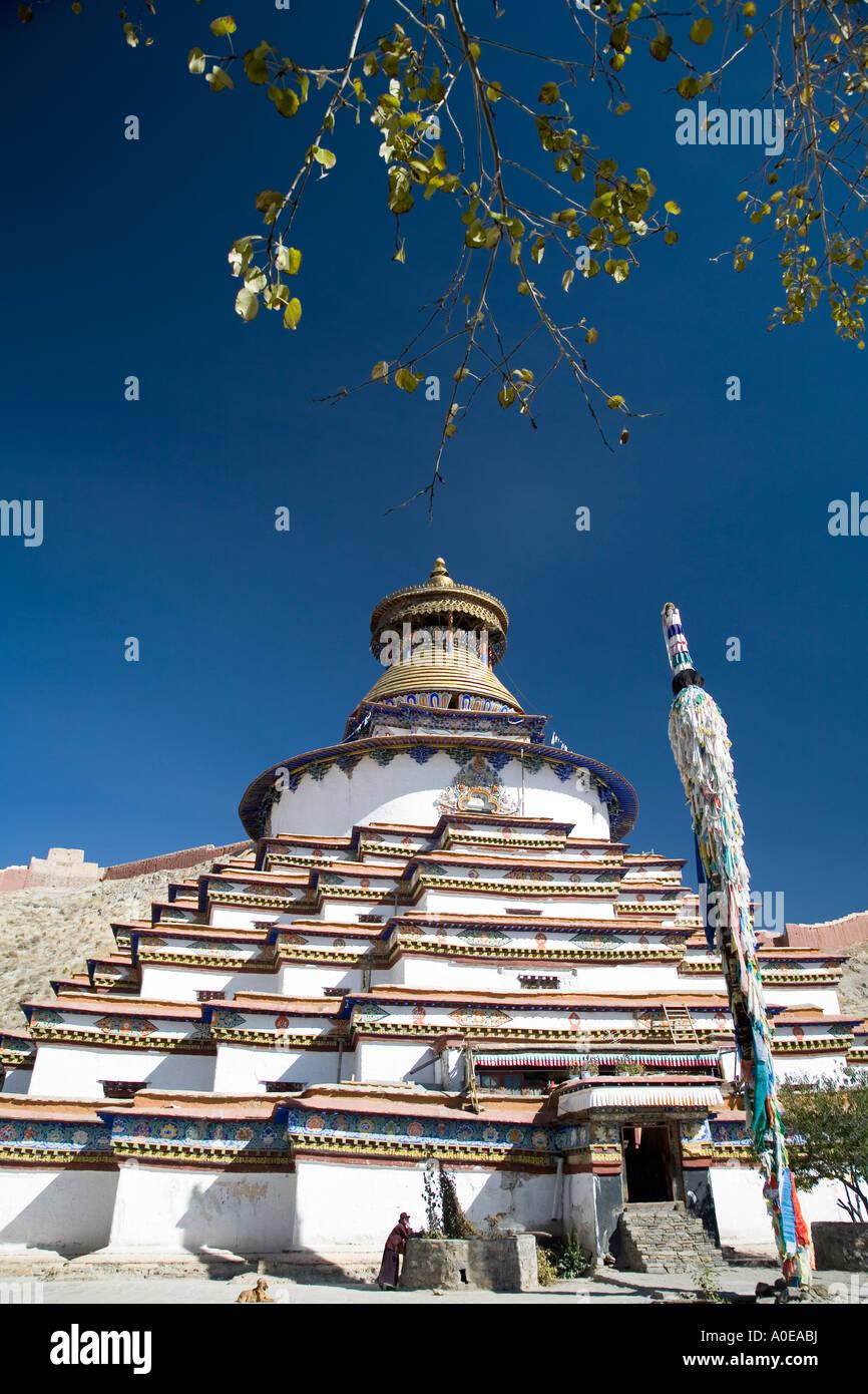 Kumbum Stupa - Gyangtse Tibet 9 - Stock Image