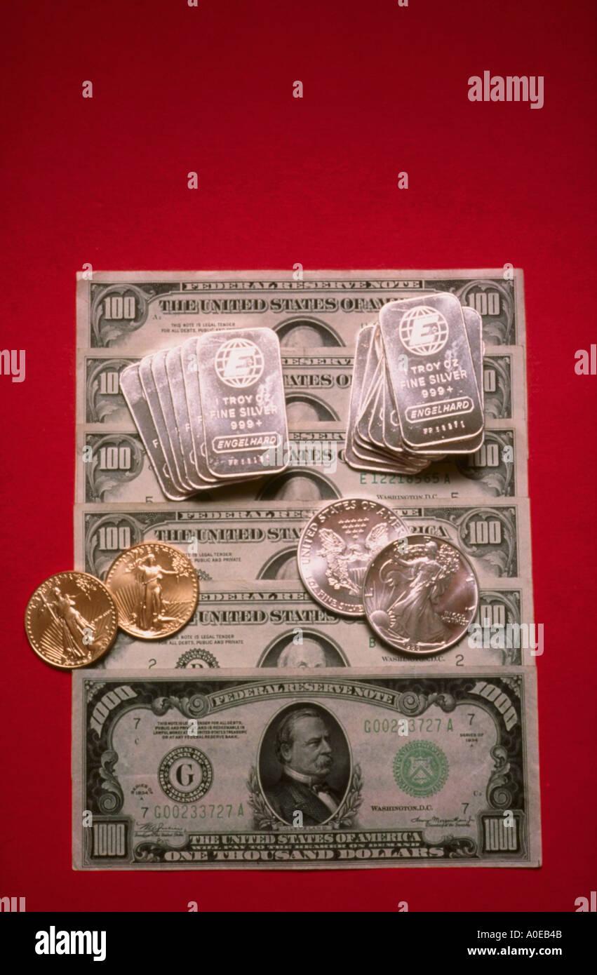 Gold Bill /& Silver Bar