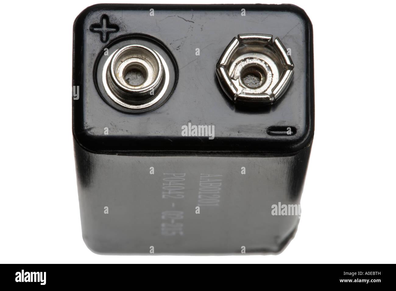 9 volt battery terminals Stock Photo: 9970192 - Alamy