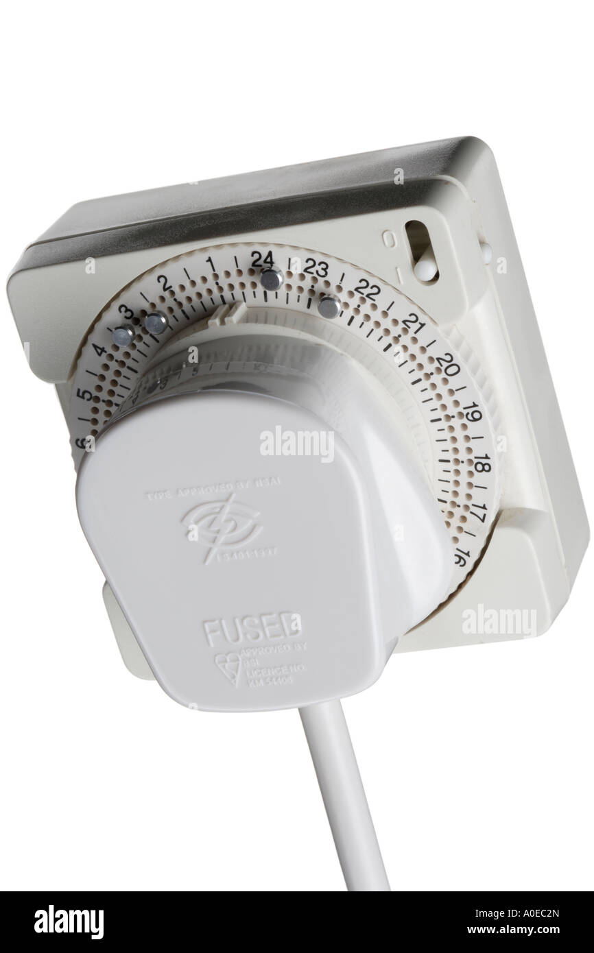 British electrical plug 13 Amp In Timer Stock Photo