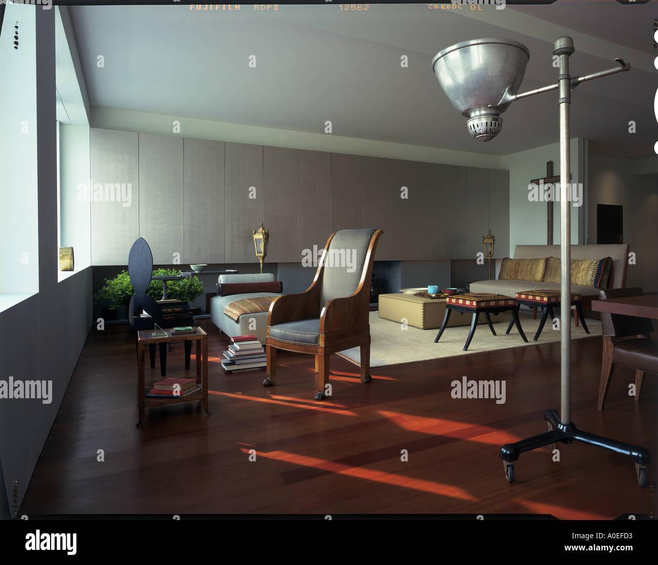 Manhattan Duplex Architect: Tsao McKown - Stock Image