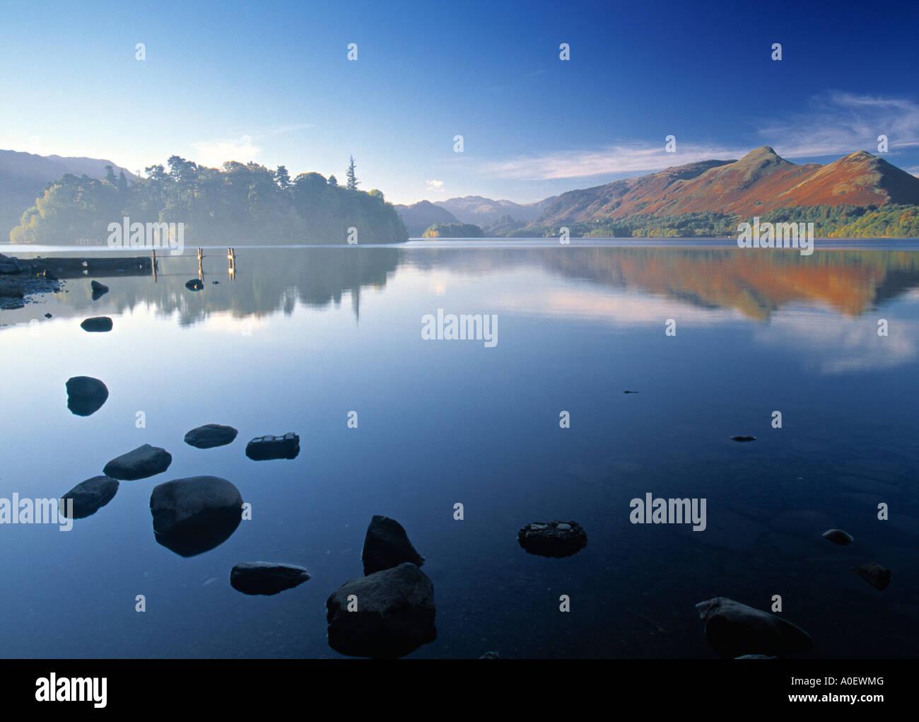 Derwent Water Lake District Cumbria England - Stock Image