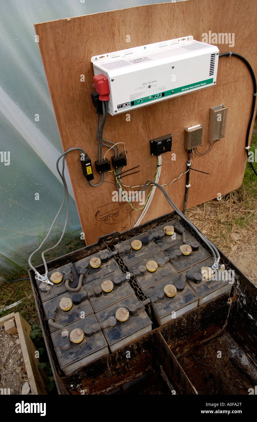 Home Made System Using Solar Power For Producing Electricity On Inverter Systerm Organic Hill Farm Uk Battery And