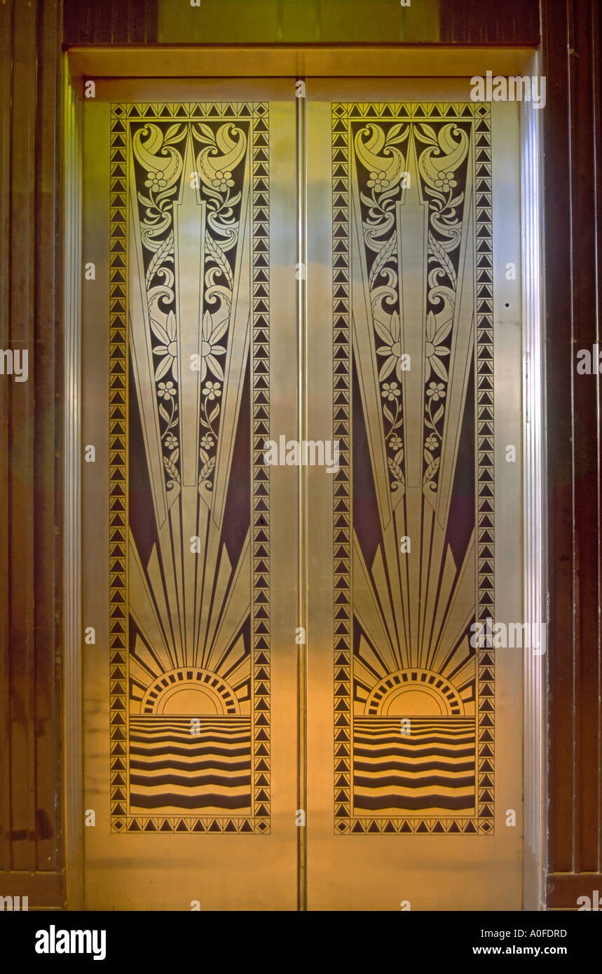 Art Deco Elevator Door Lobby At Historic Lone Star Gas