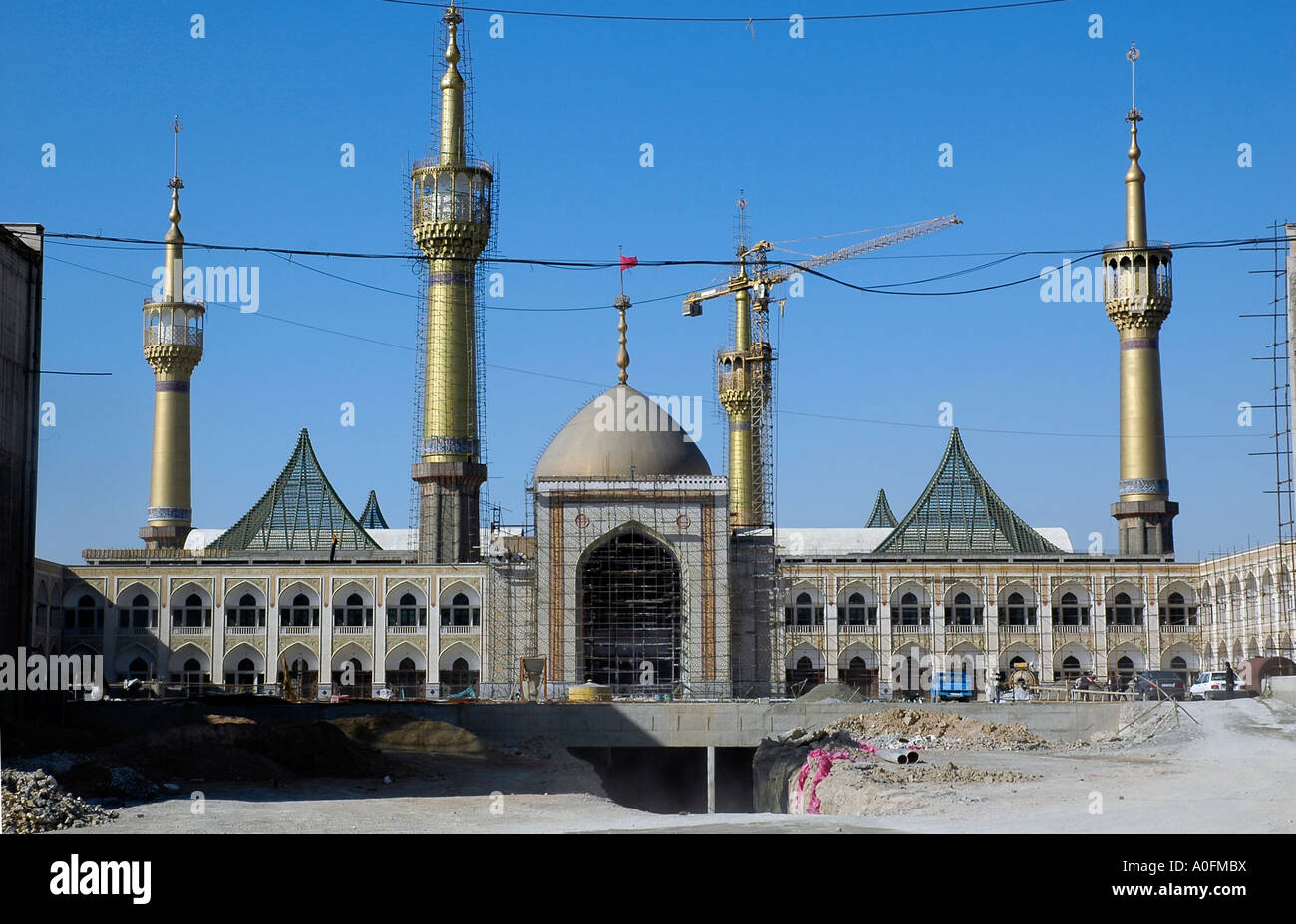 The mausoleum of ayatollah Khomeini is still under construction in southern Tehran, Iran. Stock Photo