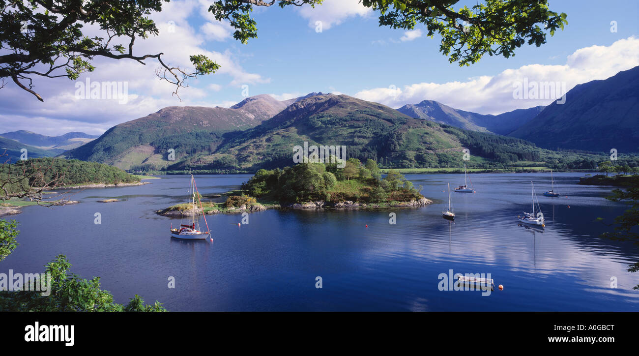 Bishops Bay on Loch Leven near North Ballachulish, Lochaber, Highland, Scotland, UK - Stock Image