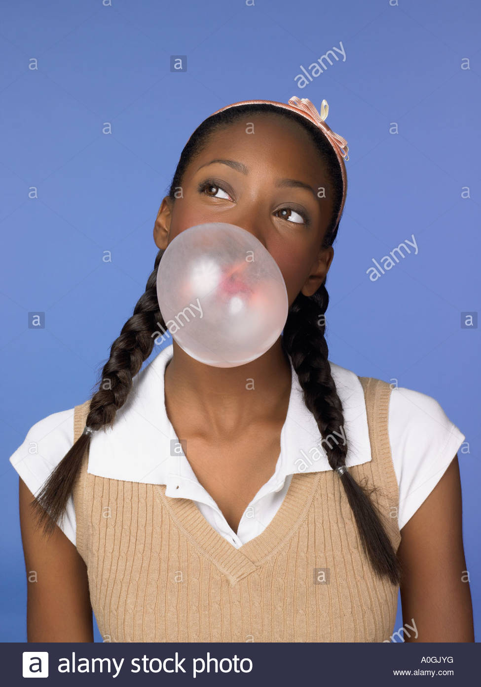 Female african american high school student - Stock Image